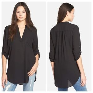 Lush Roll Sleeve Tunic Top - NWOT